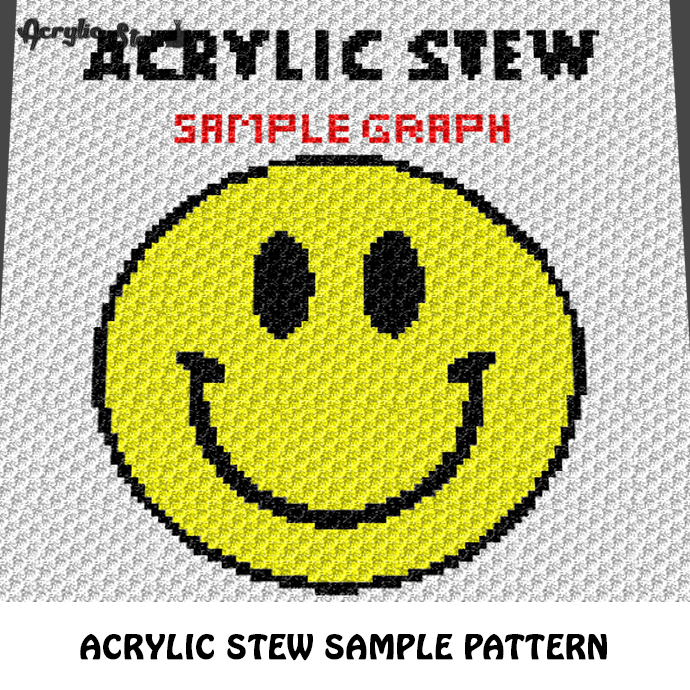Acrylic Stew Sample First Project To Try crochet graphgan blanket pattern; c2c,