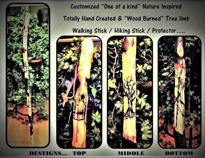 Retirement gift,hiking stick,walking stick,wood anniversary gift