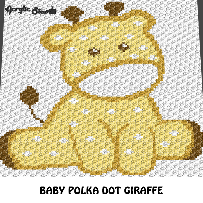 Polka Dot Giraffe Baby Animals Baby Menagerie crochet blanket pattern