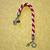 Christmas Candy Cane Ornaments - Kumihimo
