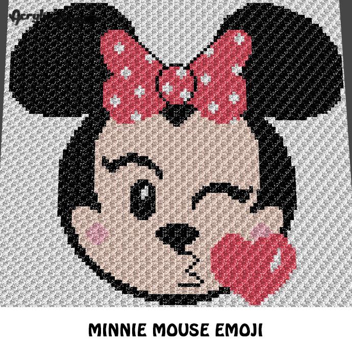 Minnie Mouse Emoji Kissing Disney Cartoon By Acrylic Stew On Zibbet