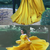 Yellow New Saudi Arabia Long Evening Dresses With Crystal Princess Long Prom