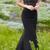 Custom Made Black Mermaid Prom Dress,Beaded Sleeveless Party Dress,High Quality