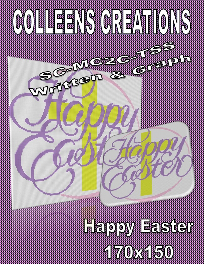 Happy Easter Crochet Written and Graph Design