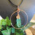 Hammered Copper Apple Aura Pendant, Boho Jewelry
