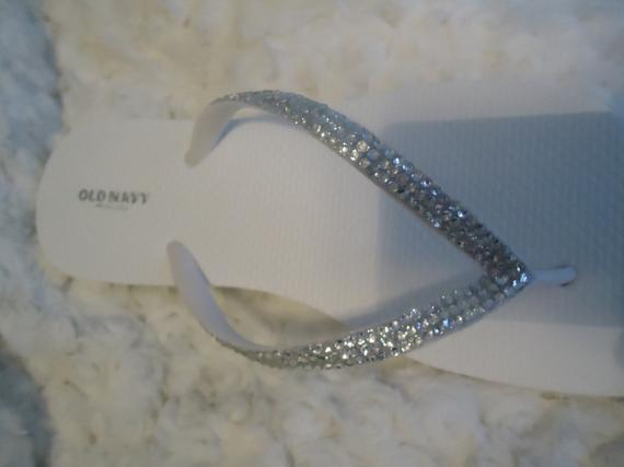 27a72c1e5cbd ... Light Pink Blush Flip Flops With Crystals-3 Rows Of Crystals