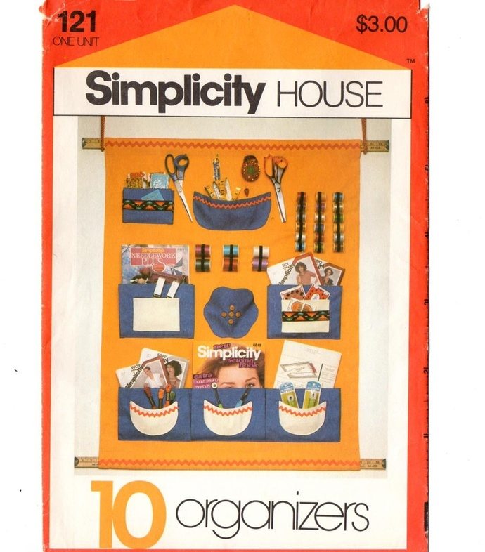 Simplicity House 121 Organizers 80s Vintage Sewing Pattern Sewing, Nursery, His