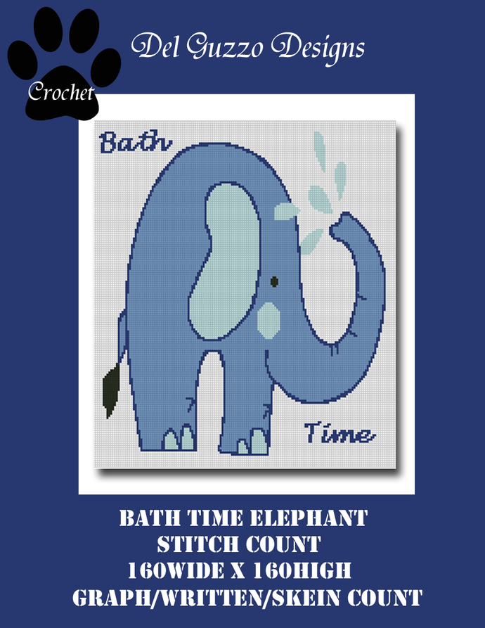 Bath Time Elephant 160x160 SC