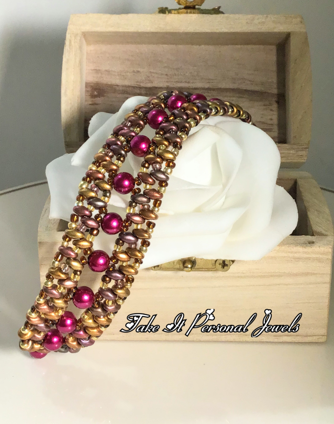 Pearl and Crystal Handmade Bracelet