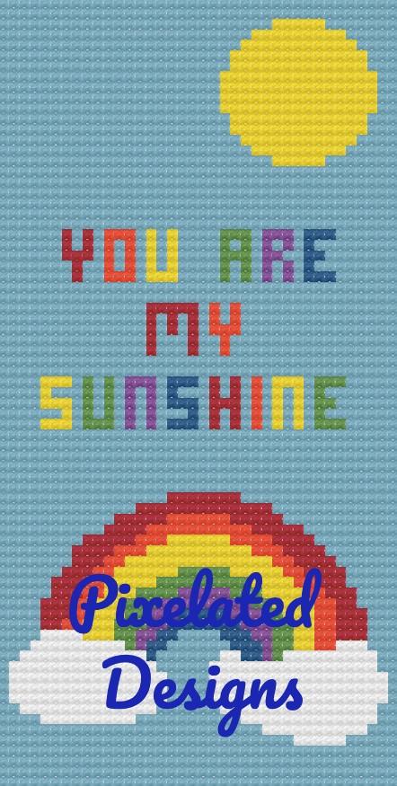 You Are My Sunshine - Mini C2C Twin - 38x75 - Graph w/Written