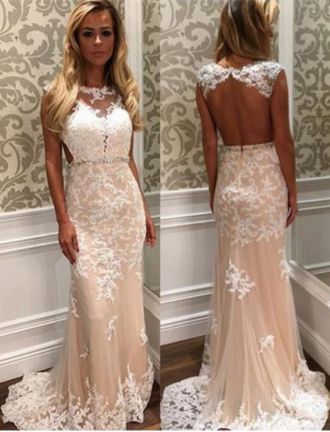 Custom Mermaid Prom Dresses, Cheap Prom Dress, Lace Prom Dress,Long Prom Dress ,