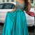 Graduation Party Dress See Through Back Sheer Beaded Blue Evening Prom Dress