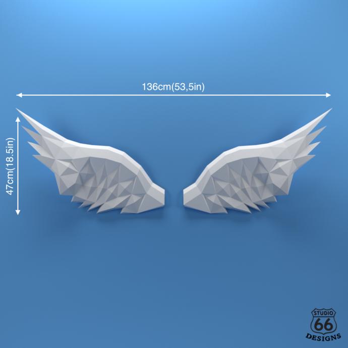 Wings Papercraft, Paper Angel Wings, PDF Pegasus Wings, PDF Papercraft Template,