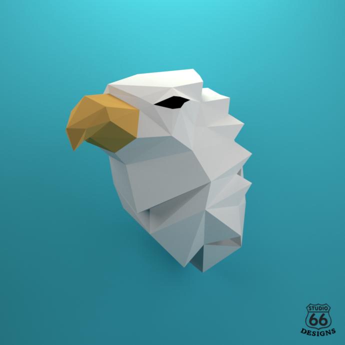 Griffin Papercraft, Fabulous beast, Paper Griffin, Griffon Head, Legendary