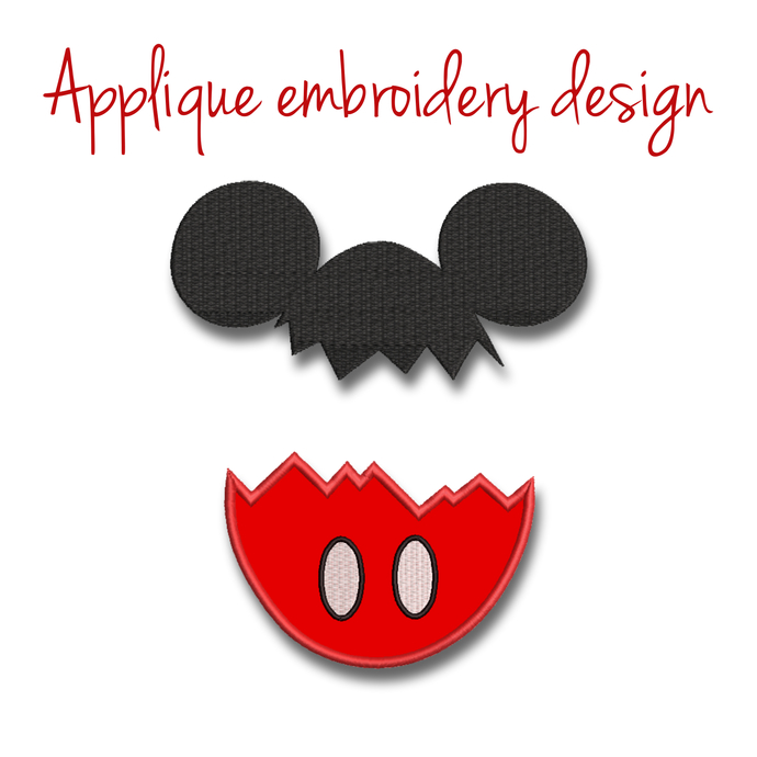 Mickey Mouse monogram frame embroidery machine design easter applique digital