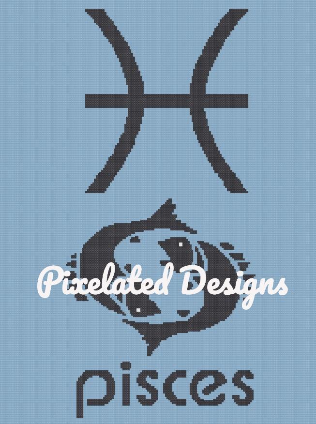 Pisces Throw Pattern - SC - 180x240 - Graph w/Written