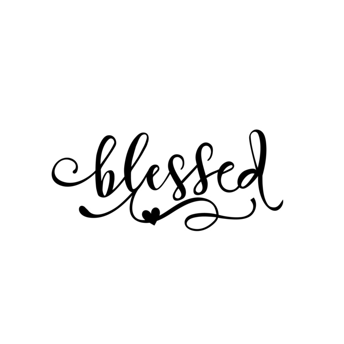 Blessed word Graphics SVG Dxf EPS Png Cdr Ai Pdf Vector Art Clipart instant  download Digital Cut Print File