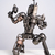 6.8 inch Jango fett sitting - jango fett small - Metal sculpture - art metal -