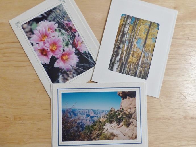 Photo greeting cards, original photography, Arizona scenery, nature cards