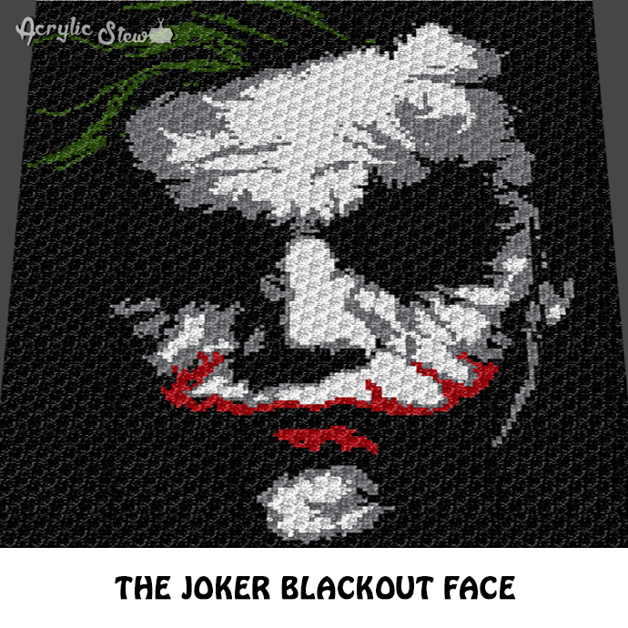 The Joker Batman DC Comics Nemesis Villain crochet graphgan blanket pattern;