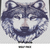 Wolf Face Wolf Photograph Art crochet graphgan blanket pattern; graphgan