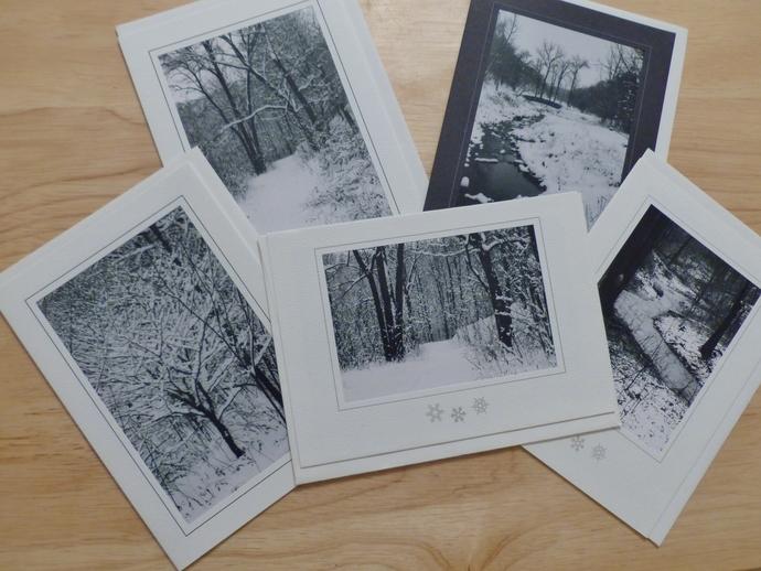 Photo greeting cards, original photography, Winter scenery cards, Minnesota