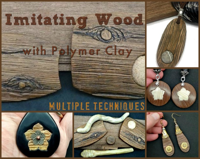 Imitative Wood Techniques Tutorial - Polymer Clay Tutorials - Digital PDF File