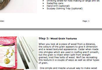 Imitative Wood Techniques Tutorial - Polymer Clay Tutorials - Digital PDF File
