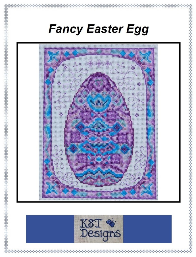 Fancy Easter Egg - Digital Cross Stitch Pattern