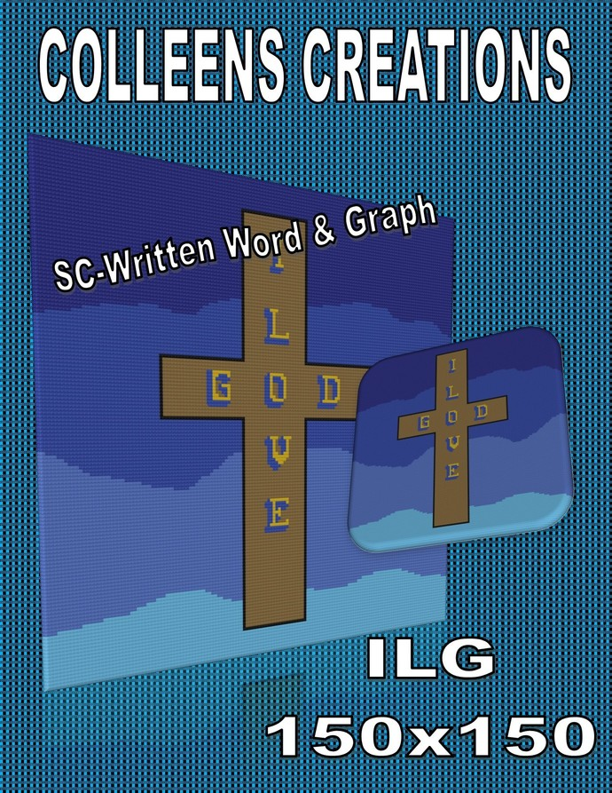 ILG I Love God Crochet Written and Graph Design