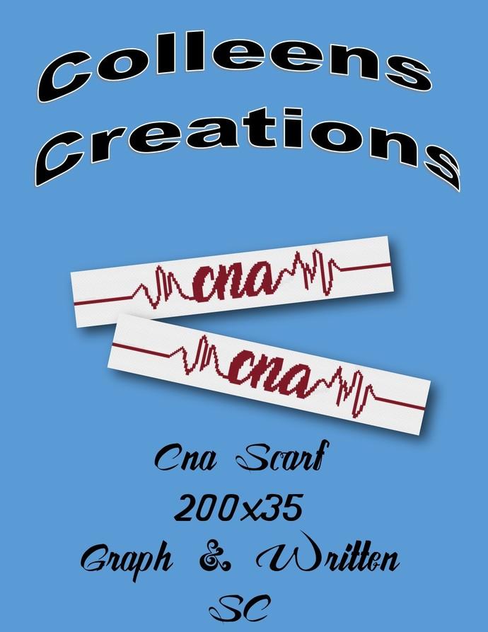 CNA (Certified Nursing Assistant) Scarf Crochet Written and Graph Design