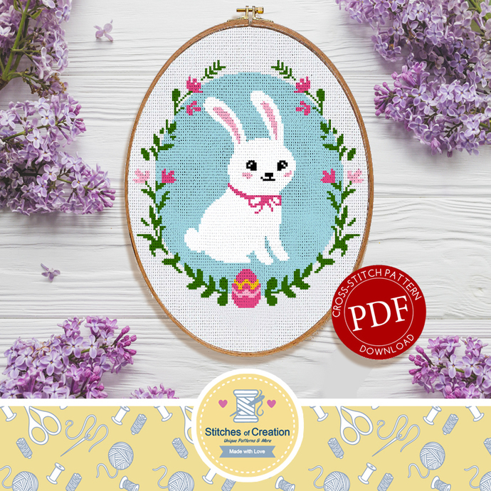 Easter Bunny | Digital Download | Cross Stitch Pattern