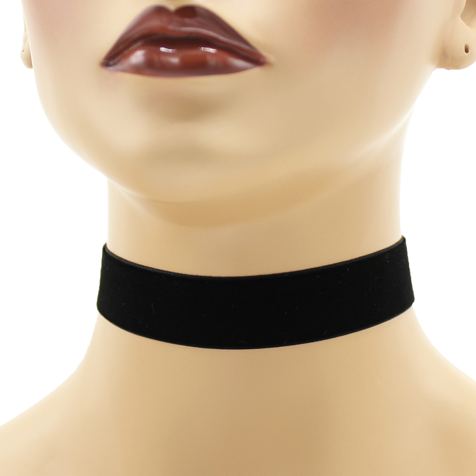 Black Velvet Choker 7/8 inch wide Custom Length Color Choices Handmade USA 22 -