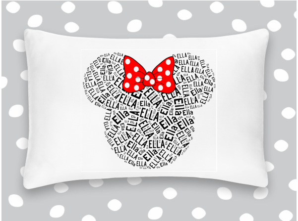 Personalized Minnie Mouse Pillowcase Disney Autograph