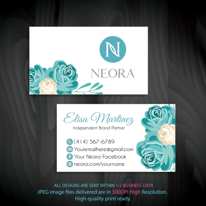 Personalized Neora Business Cards, Neora Business Card, Neora Digital file card,