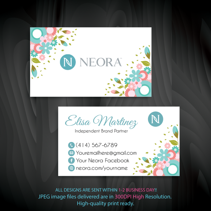 Neora Business Card, Personalized Neora Business Cards, Neora Digital file card,