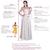 Simple pink chiffon long prom dress, evening dress
