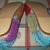 Handmade multicolor python leather ballet flats