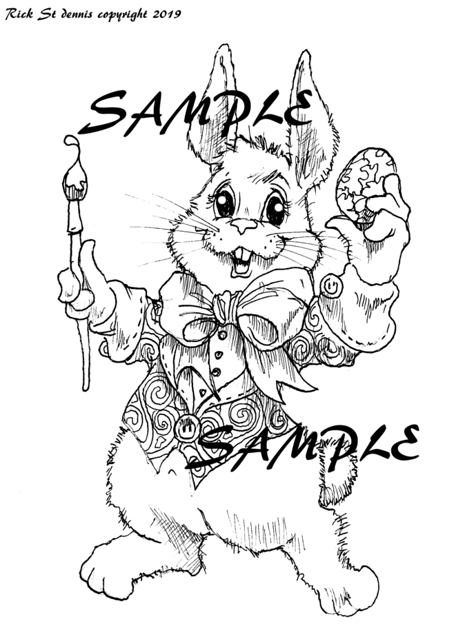 2019 Easter Bunny Artist digi-march packet single
