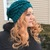 READY TO SHIP Mermaid Slouchy Hat - One Size Fits Most - Women / Teens