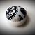 Handmade Black and White Bold Lines Pin Cushion