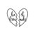 Best Friends Heart Graphics SVG Dxf EPS Png Cdr Ai Pdf Vector Art Clipart