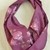 Infinity scarf, Short scarf, Maroon with pink roses fabric, Circle scarf, Gift