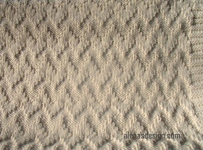 Knitting Pattern 220 Baby Blanket Chevron Afghan Throw Pattern Knit Blanket