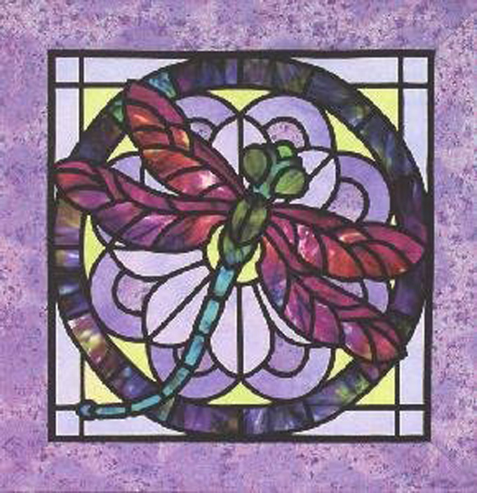 Stain Glass Dragonfly Cross Stitch Pattern***LOOK***X***INSTANT DOWNLOAD***