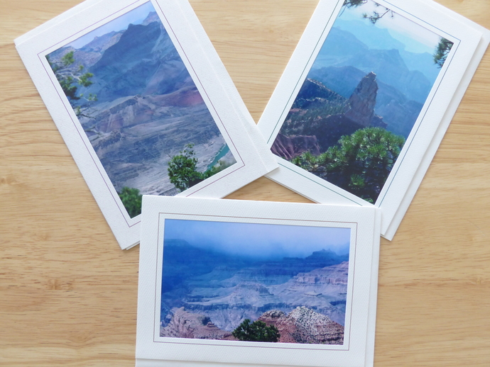 Photo greeting cards, original photography, Grand Canyon scenery, nature cards,