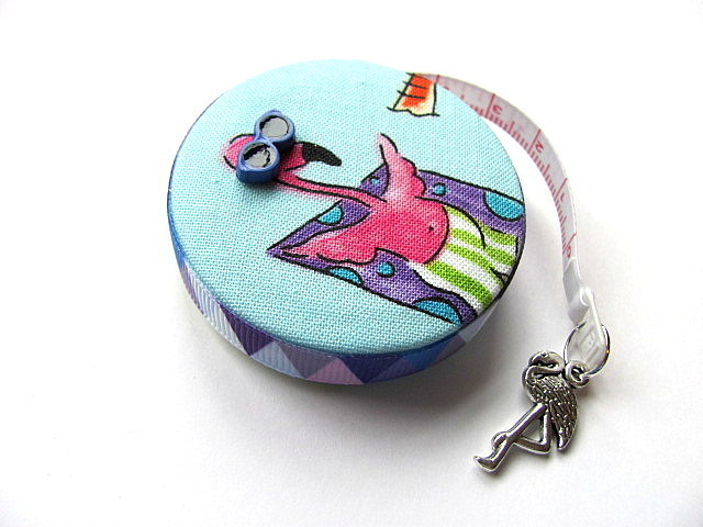 Retractable Tape Measure Vacation Flamingos  Measuring Tape
