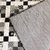 Black,white & gray ninepatch quilt