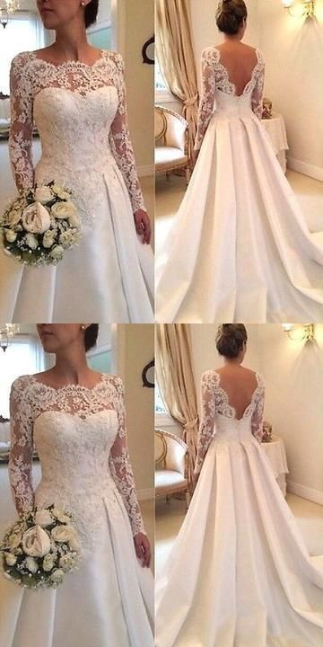 New White/Ivory Lace Wedding Dress Bridal Gown