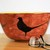 """Decorative bowl, """"The Pheasant and the Fox"""", hand painted, large ceramic fruit"""